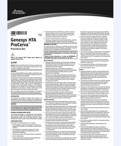 Genesys HTA Directions for Use
