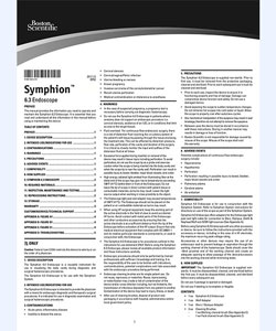 Symphion Endoscope Directions for Use