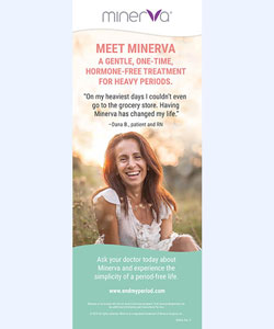 Minerva ES In-office Pull-up Banner About AUB/Heavy Periods