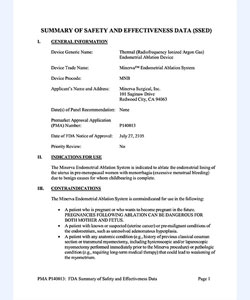 Minerva ES FDA Approval Document